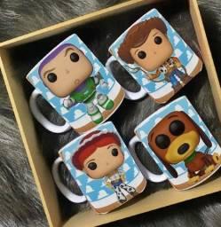 Kit 4 Canecas Toy Story Woody, Jessie, Buzz, Balanoalvo