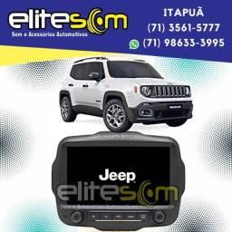 Central Multimídia Jeep Renegade Pcd S300+ 9 Pol. instalada na Elite Som