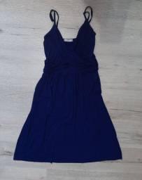 Vestido azul marinho de alça M (novo)