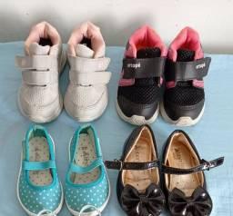 4 sapatos por 50,00 usados