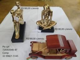 Kit Estátuas e Carrinho