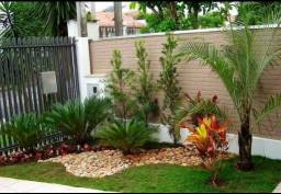 Serviços de jardinagem e paisagismo.