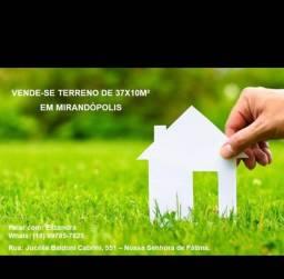 vende terreno em Mirandópolis