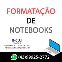 Formatação de Notebooks (troco HD por SSD se precisar)