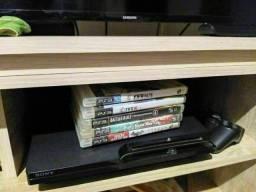 Playstation 3 com jogos e controle