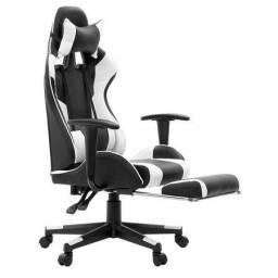 Cadeira Gamer Lazy Preto e Branco