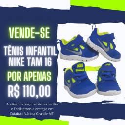 TÊNIS INFANTIL DA NIKE TAM 16 POR APENAS R$110,00