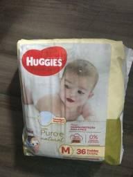 Fralda Huggies Natural Care M - 36 unidades