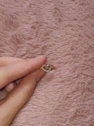 anel coração e laço