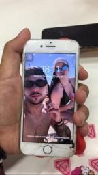 iPhone 7 34gb tela trincada e botão com defeito