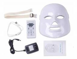 Máscara De Led Com 7 Cores Tratamento Facial Fototerapia