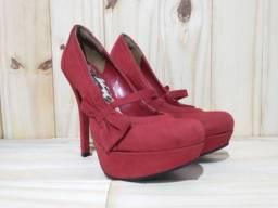 Sapato peep toe via marte nº 35