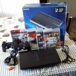 Playstation 3 com jogos originais