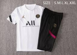 Conjunto PSG camisa_short longo