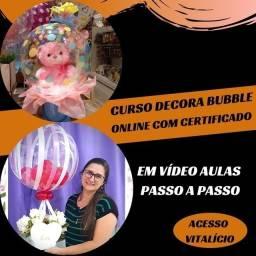 Curso online - Decora Bubbles Balões