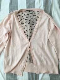 Casaco rosa bebê