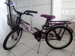 Bicicleta infantil Roxa Aro 20