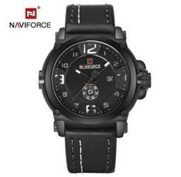 Relógio Naviforce Masculino NF9099 Pulseira Couro Novo