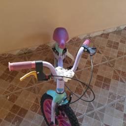 Bicicleta aro 16 bandeirante da frozen