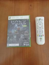 Jogo Halo Wars lacrado e controle original Xbox 360