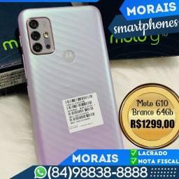 Motorola G10 64Gb Branco Floral (LACRADO COM NOTA FISCAL E GARANTIA DE FÁBRICA)