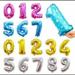 Balão Metalizado Número 40cm Top