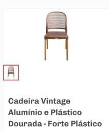 Conjunto de Cadeiras vintage gold, novas , aceito cartões!