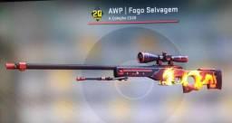 AWP Fogo Selvagem CSGO