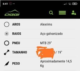 Bike Oggi Hacker Sport Aro 29, 21V, Tam: 19 R$:1.500,00
