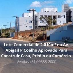 Lote Comercial de 2.010m² | Região Central | Perto da Lagoa