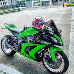 Kawasaki zx10r + equipamentos