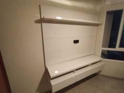Painel de TV até 65 polegadas - Cor Branco laqueado