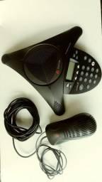 Aparelho De audioconferência Polycom Soundstation 2 TM c/Fonte Wall Module Power