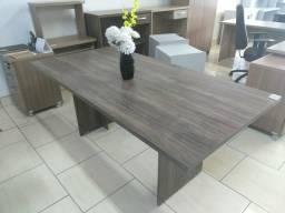 Mesa reunião retangular tampo 33mm med.1,80x0,90mm cores amadeirada