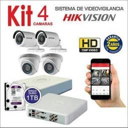 Kit 4 Câmeras Instalada