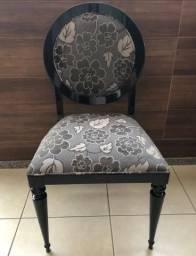 8 cadeiras laca preta