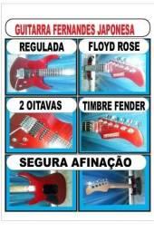 Guitarra fernandes japonesa regulada,floyd rose perfeita
