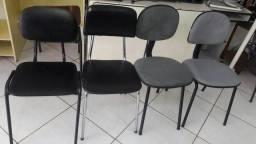 Cadeiras fixas para escritorio(99163-8430 )