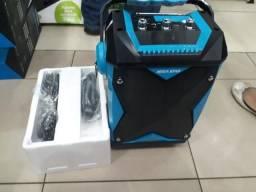 Caixa De Som Amplificada Mega Star Hy-k60bta Karaoke 1500w S