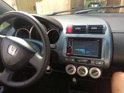 Honda Fit 2008 1.4 banco de couro , completo + kit multimidia - 2008