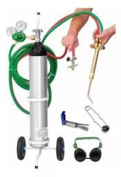 Aparelho Para Solda Mini Oxi Glp Maçarico Frances Ppu Pp2