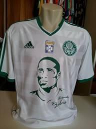 Raríssima camisa do Palmeiras usada em jogo em 2013 em homenagem ao ídolo  Djalma Santos c98ed9efcbf5b