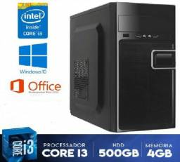 Oferta!! PC-CPU core i3 + 4GB ddr3 + 500GB HD + Garantia - Entregamos na RMR