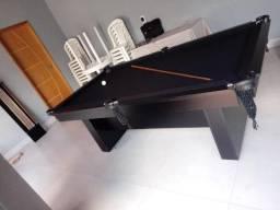 Mesa Encanto Carlin Bilhares Cor Preta Tecido Preto Mod. MRVX4733