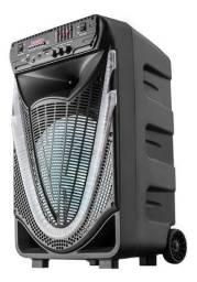 Caixa Amplificada Multilaser Sunny SP340 com Bluetooth, USB, Micro SD e Rádio FM - 400W