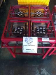 Fogão Industrial  4Bocas C/Pes