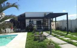 Casa de 480 m², 3 qts (1 suite c/ closet), piscina, sauna, cozinha com ilha, área gourmet