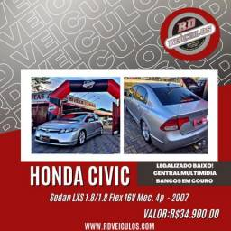 Honda Civic Sedan LXS 1.8/1.8 Flex 16V Mec. 4p 2007 Flex