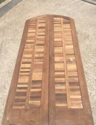 Porta de madeira 2.10 x 1,00 Veneziana