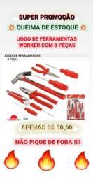 Jogo de Ferramentas 8PÇS - Worker